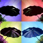 Parasoll mot himlen